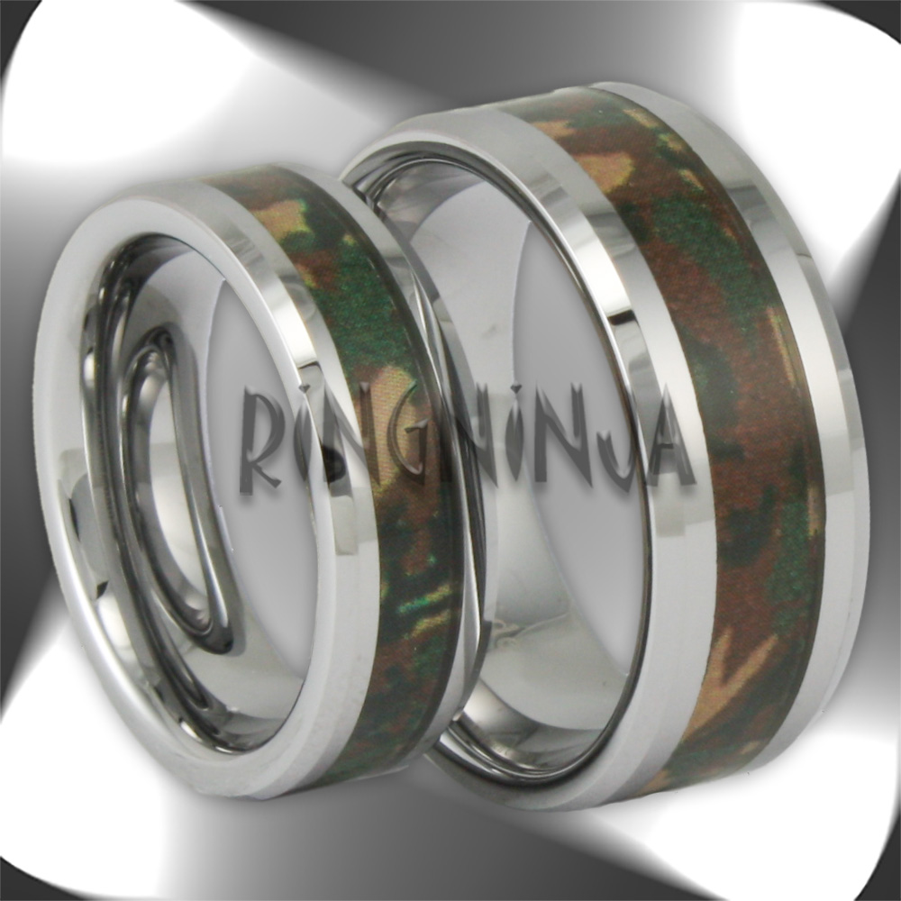 Camo Tungsten Rings and Wedding Bands by Ring Ninja