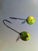 CITRUS GREEN BUNKER BUSTER SCREWY JIG HEAD 2-PACK