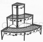 "TDI 3 Tier Corner Steel 23.5"" Deck Patio Plant Stand  Rack 39-110367"