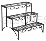 "TDI 3 Tier Decorative Steel 27.5"" Deck Patio Plant Stand Rack 39-100366"