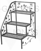 "TDI 3 Tier Left Side Steel 31"" Deck Patio Plant Stand  Rack 39-100362L"