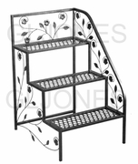 "TDI 3 Tier Right Side Steel 31"" Deck Patio Plant Stand Rack 39-100362R"