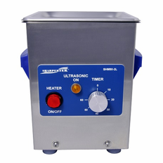 "Heated Ultrasonic Cleaner SH80-2L<sup>TM</sup> 6"" x 5.25"" x 4""  (L x W x H) Made by Sharpertek®."