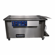 """Ultrasonic Gun Cleaner; Dual Tank 42""""  Cover and Heat without U.S. Lube Tank"""