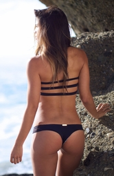 I DREAM OF EDEN <br> Black & Bohemian Stain Glass Two Strap Thong