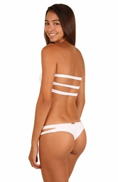 I DREAM OF EDEN <br> White & Mystical Leopard Two Strap Thong