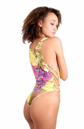 ONLINE EXCLUSIVE <br> Bamboo Blossom & Ivory Braided Monokini