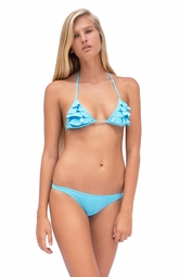 TROPICAL DESEJO <br> Light Blue Bow Back