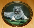 1995 Plate Solemn Sovereign Series Name Portraits of Majesty – White Tiger