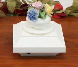 Battery Operated White Turntable for Items of up to 6 lbs