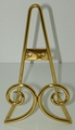 Brass Easel - Standing or Hanging Plate Stands Scroll Design