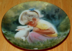 Collector Miniature Plate Donald Zolan Tender Moment 3rd Issue