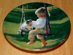 Collector Miniature Plate Donald Zolan The Garden Swing