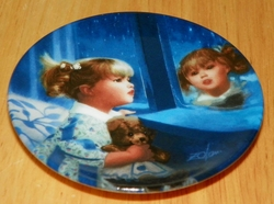 Collector Miniature Plate Donald Zolan Windows of Dreams 1869C