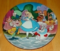 Disney Collector Plate 1992 3rd Issue Alice in Wonderland in the Disney Treasured Moments Plate