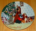 Disney Collector Plate Lady and the Tramp Merry Christmas to All