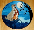 Disney Collector Plate Moonlight Romance Lady and the Tramp Series