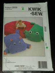 Kwik Sew New Uncut Pattern # 2959 Lounge Pillows