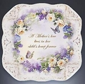 Lena Liu's Mother's Love Butterfly & Floral Art Plate