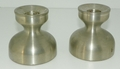 Selandia Norway Pewter Candle Sticks / Holders 3 inches tall with Felt Bottoms