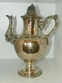 Silver Plated Footed Coffee Pot 13 inches Tall Grapes & Grape Vines