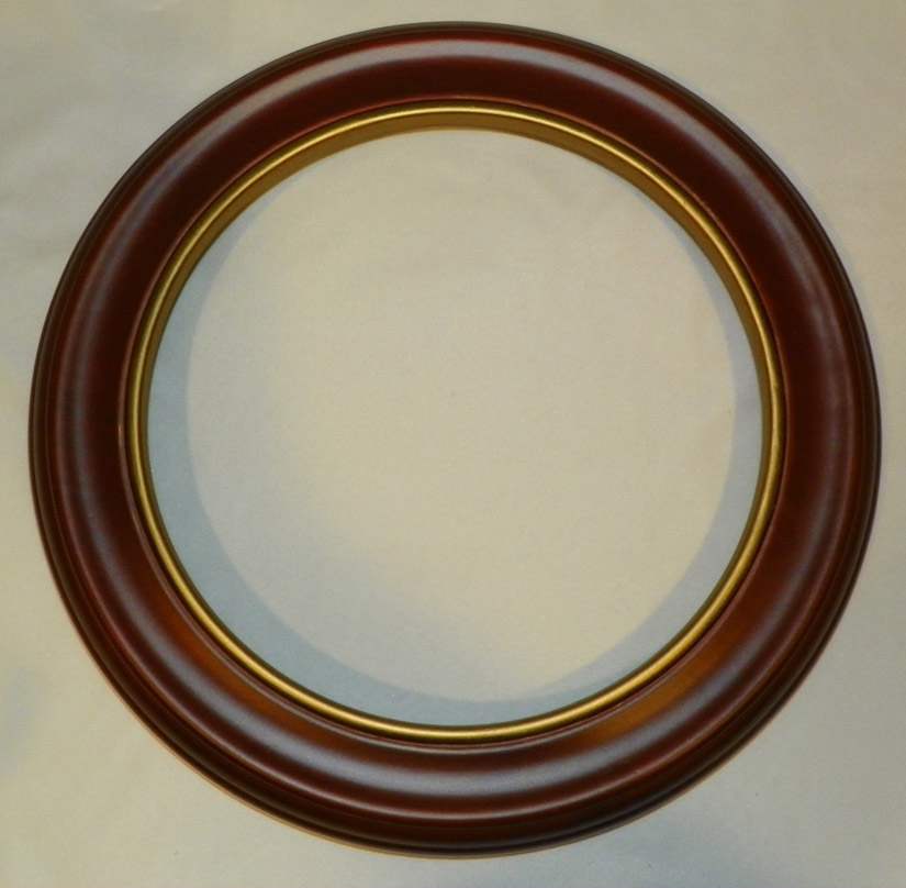 Walnut Finish Wood Plate Frame 9 1 4 To 10 1 4 In Plates