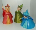 WDCC Figurines Sleeping Beauty Fairies Flora Fauna & Merryweather Retired 04/02