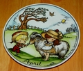 West Germany 2 Monthly Collector Plate Dekor-Shop Walter The Good Idea - April 1966