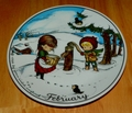 West Germany 2 Monthly Collector Plate Dekor-Shop Walter The Good Idea - February 1966