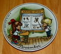 West Germany 2 Monthly Collector Plate Dekor-Shop Walter The Good Idea - November 1966
