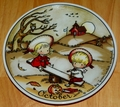 West Germany 2 Monthly Collector Plate Dekor-Shop Walter The Good Idea - October 1966