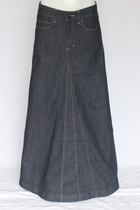 Aviv Long Jean Skirt, NEW STYLE! Sizes 4-14