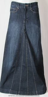 Aviv Long Jean Skirt, Sizes 0-16