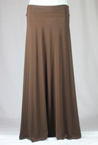 BEAUTIFUL Flowing Brown Long Skirt, Sizes 6-20