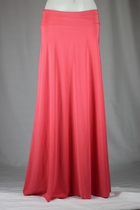 BEAUTIFUL Flowing Coral Pink Long Skirt, Sizes 6-14