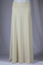BEAUTIFUL Flowing Khaki Long Skirt, Sizes 6-14