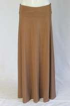 BEAUTIFUL Flowing Mocha Long Skirt, Sizes 6-20