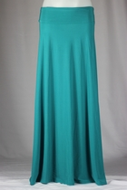 BEAUTIFUL Flowing Teal Long Skirt, Sizes 6-14, Final Sale No Returns