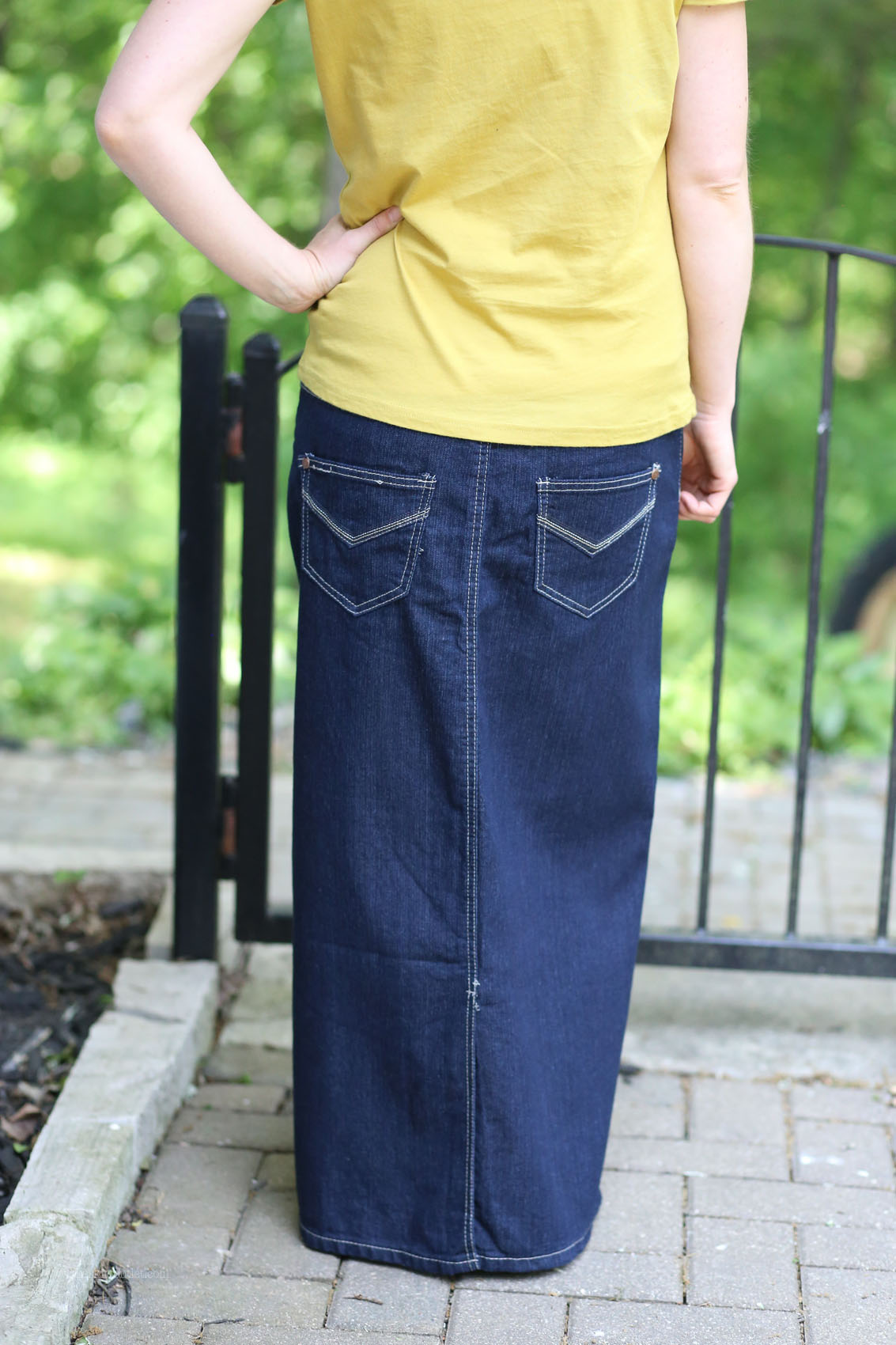 Long Denim Skirt | Long Modest Jean Skirt Sizes 8-18