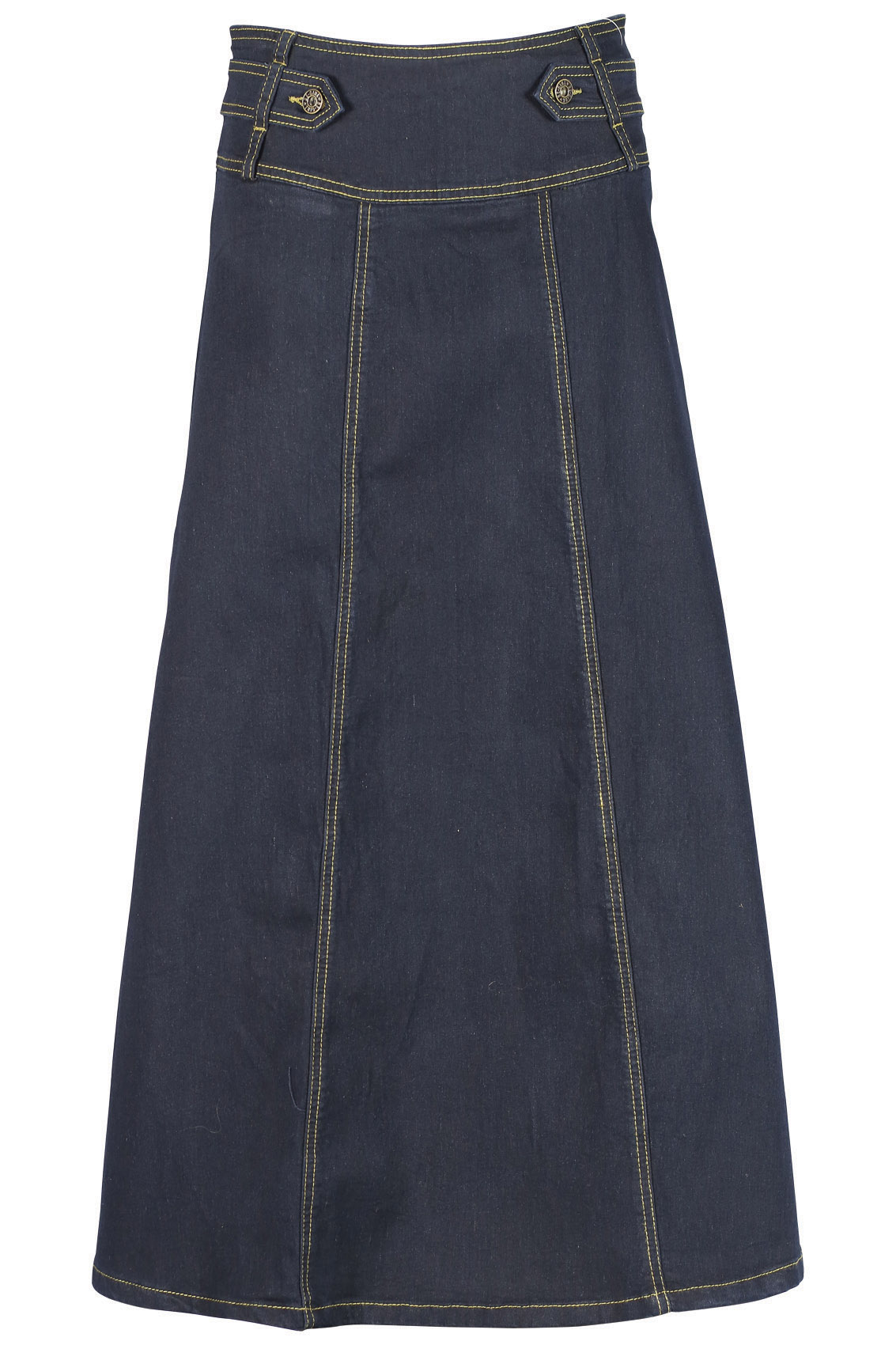 Long Jean Skirt | Modest Long Black Denim Skirts Sizes 6-18