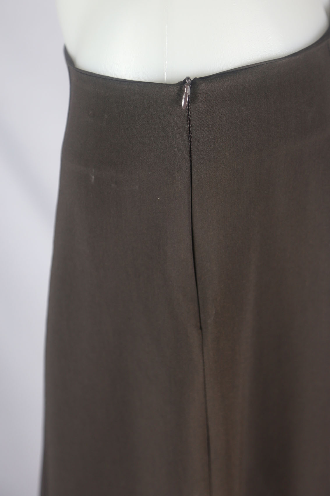 Panels Brown Long Skirt, Size 20