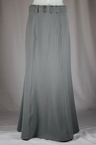 Classic Panels Gray Long Skirt, OUT OF STOCK