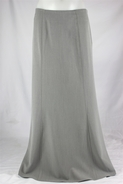 Classic Panels Light Gray Long Skirt, Sizes 8-18