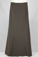 Classic Panels Long Brown Skirt, Size 8-18