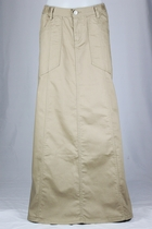Cozy Khaki Long Skirt, Sizes 6-18