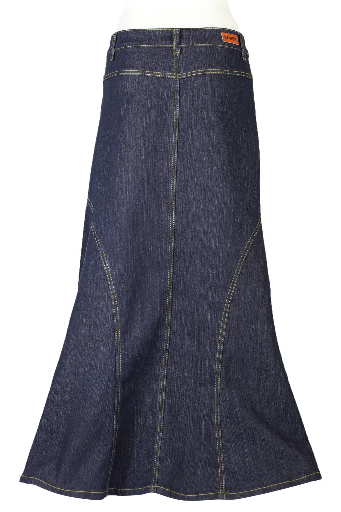 Denim Indigo Modest Skirt | Long Jean Skirt Plus Size 20