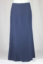 Diagonal Lines Navy Long Skirt