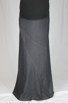 Diagonal Maternity Long  Skirt
