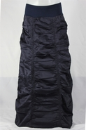Double Ruched Navy Royal Plum Long Skirt, Sizes 4-18