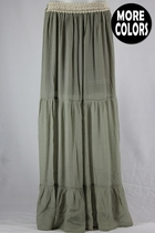 Three Tier Long Skirt, Sizes 6-20